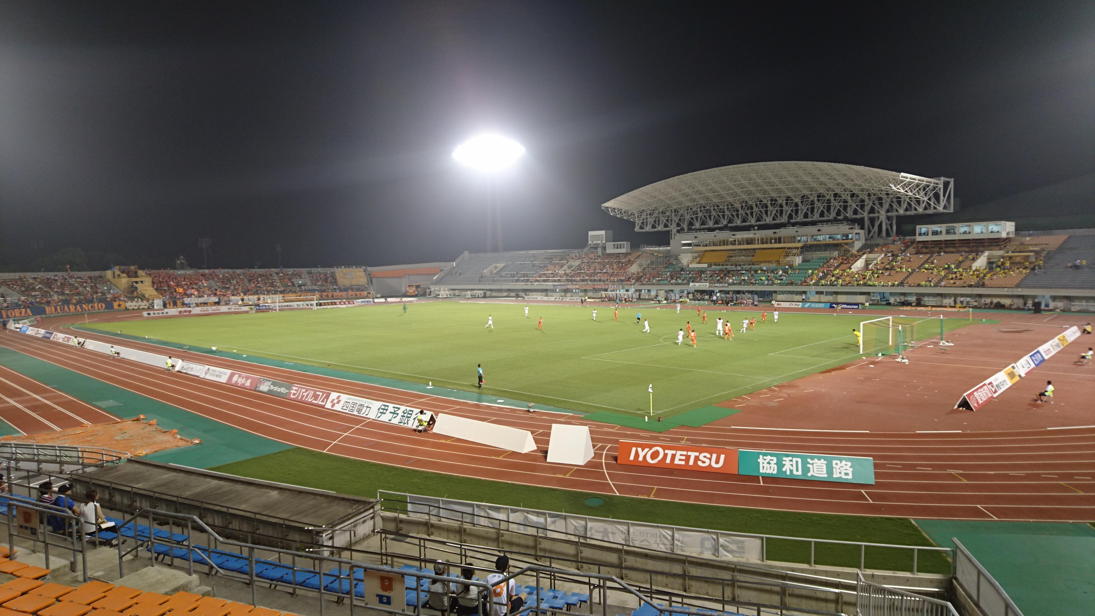 愛媛FCの本拠地ニンジニアスタジアムで、サッカー観戦する3つのポイント!