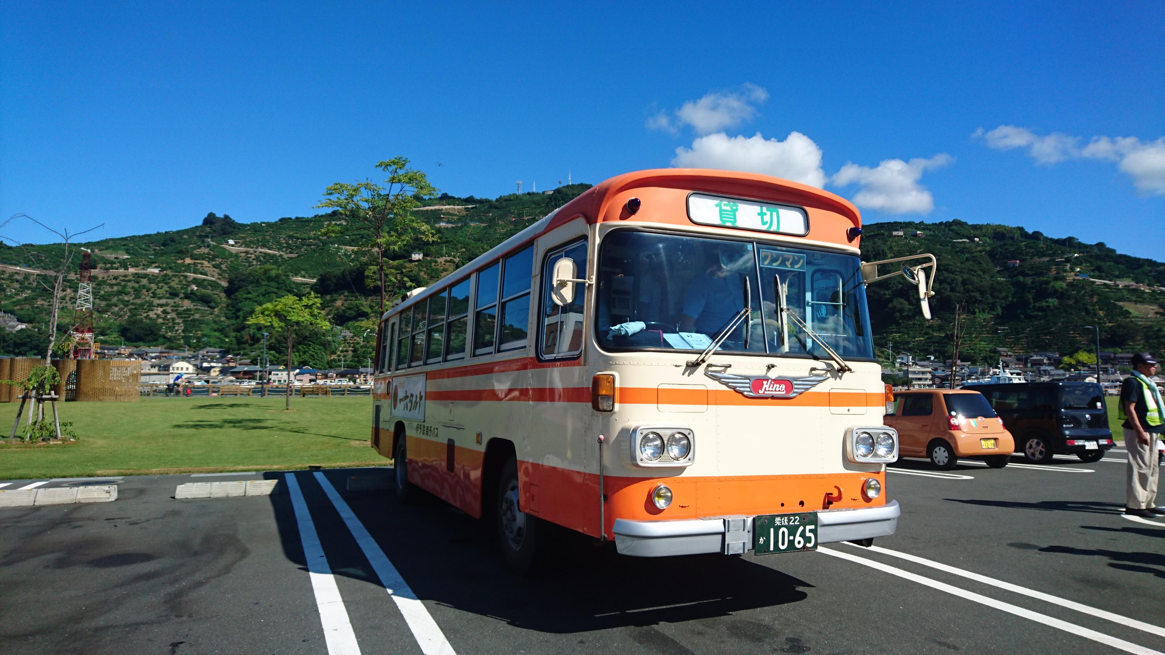 レトロバスで行ける!国の重要文化財「八幡浜市立日土小学校」の見学会に参加してきました!
