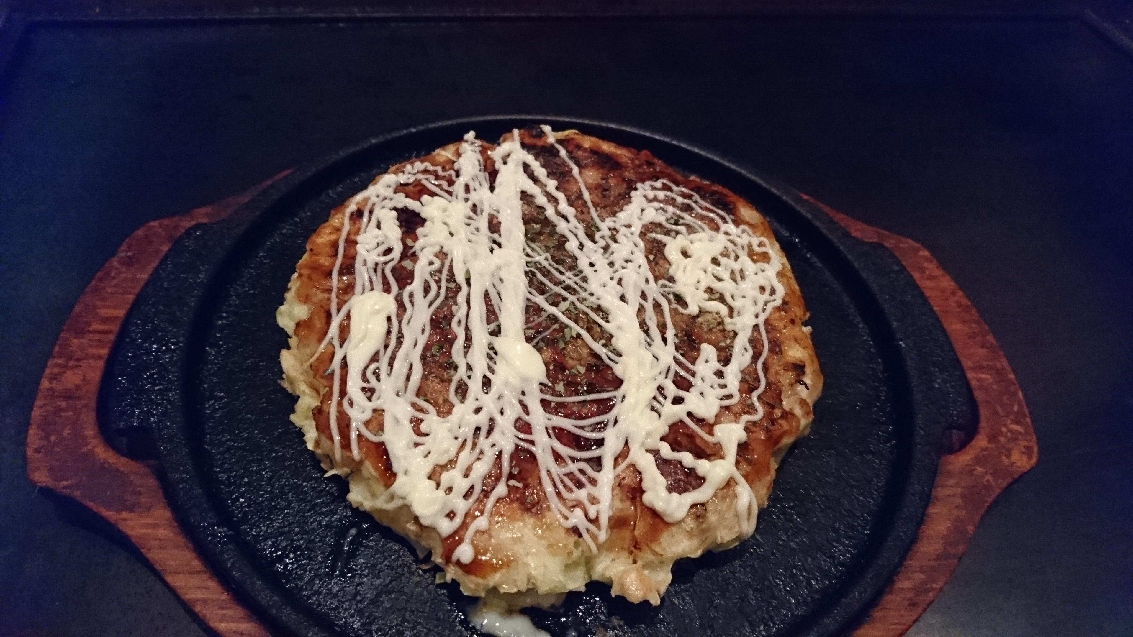味も値段も大満足!松山市萱町商店街のお好み焼「みつ蜂」のサラダバー付お昼のランチがオススメ!