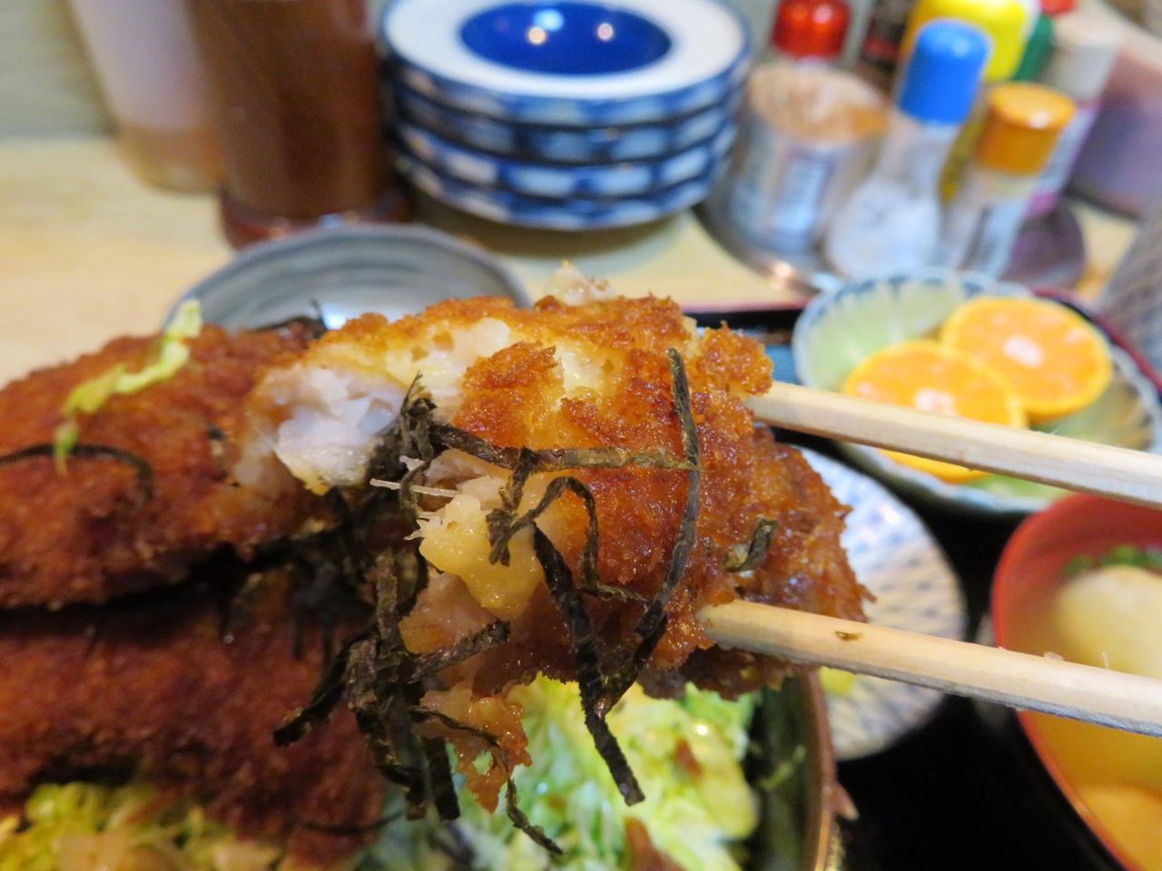 ボリューム満点!お腹が空いたら「季節料理いの」の「ハモカツ丼」がおすすめ!