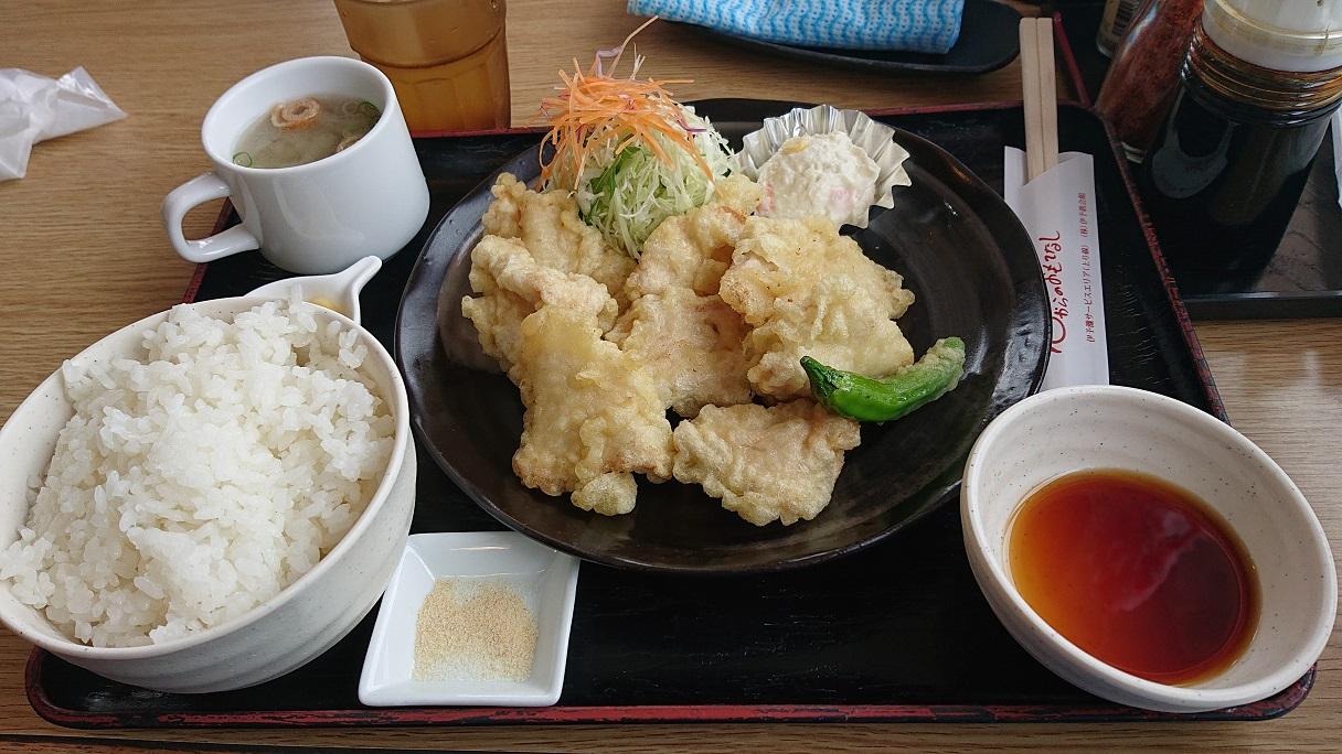 高速道路グルメシリーズ第4弾! 松山自動車道伊予灘SA(上り線)でジューシーな「鶏天定食」を食べてきた!
