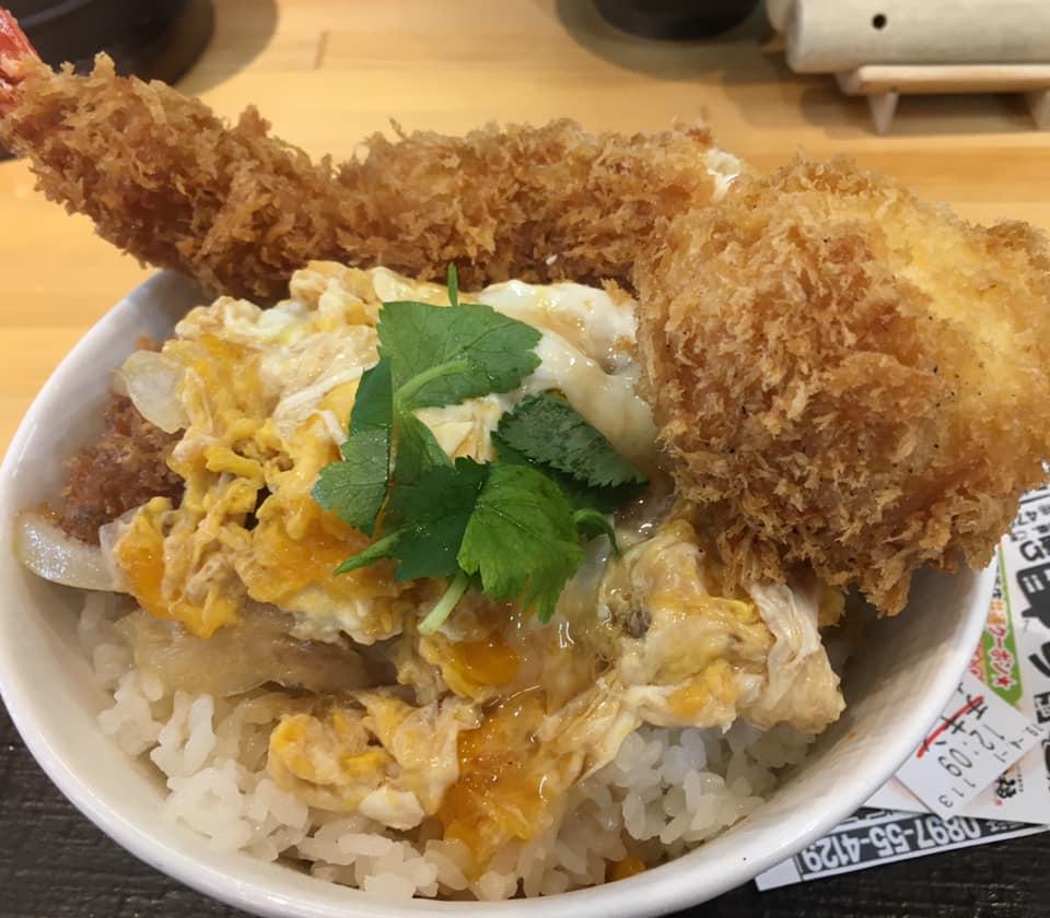 こういう贅沢もあり!?西条市にあるかつ丼屋「かつ福」の「チキンかつ丼」を1,000円相当までカスタマイズしてみた!