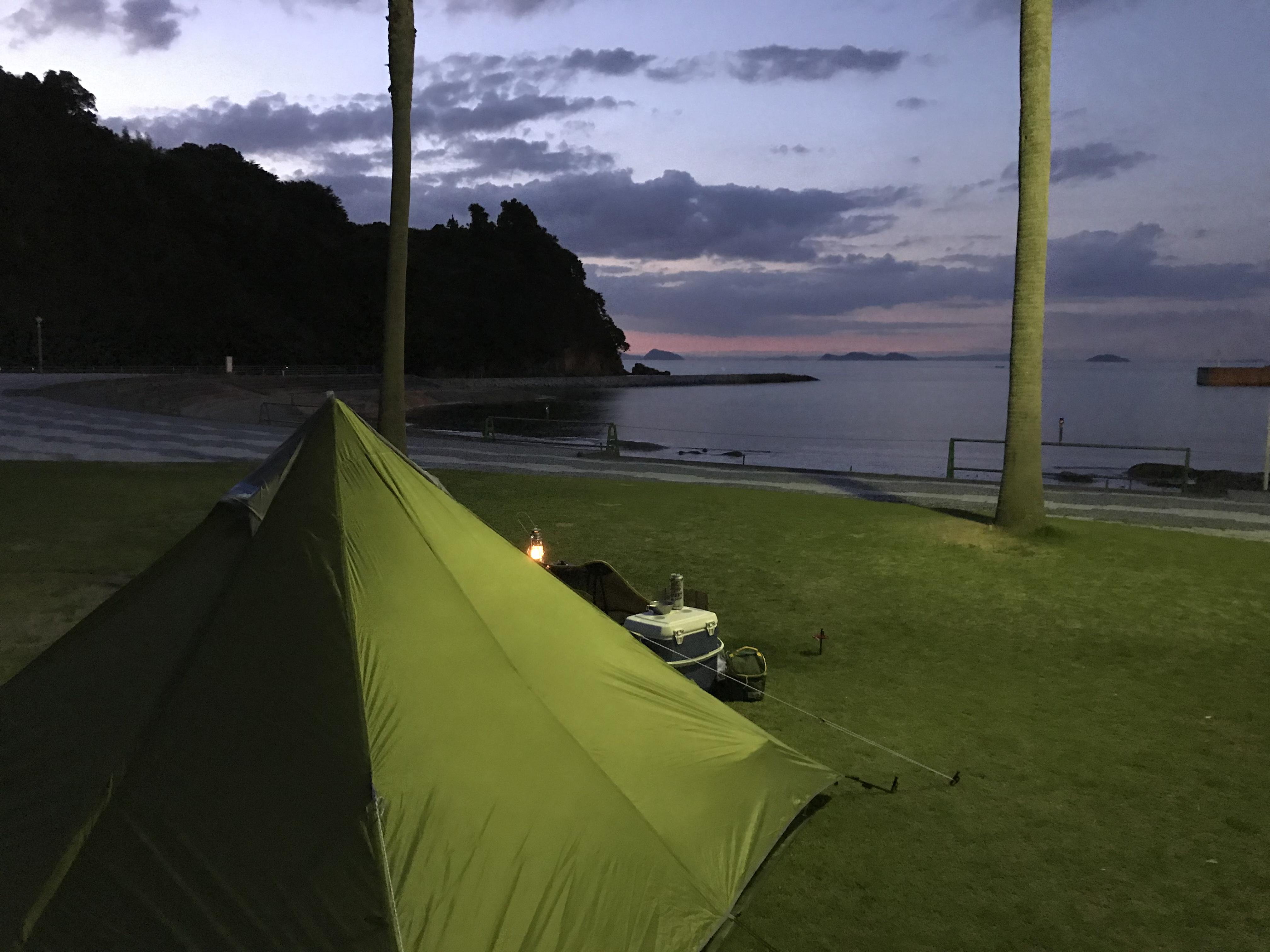 キャンプシーズン到来!新居浜市にある「マリンパーク新居浜」でキャンプをしてきたので実体験レクチャーするよ!