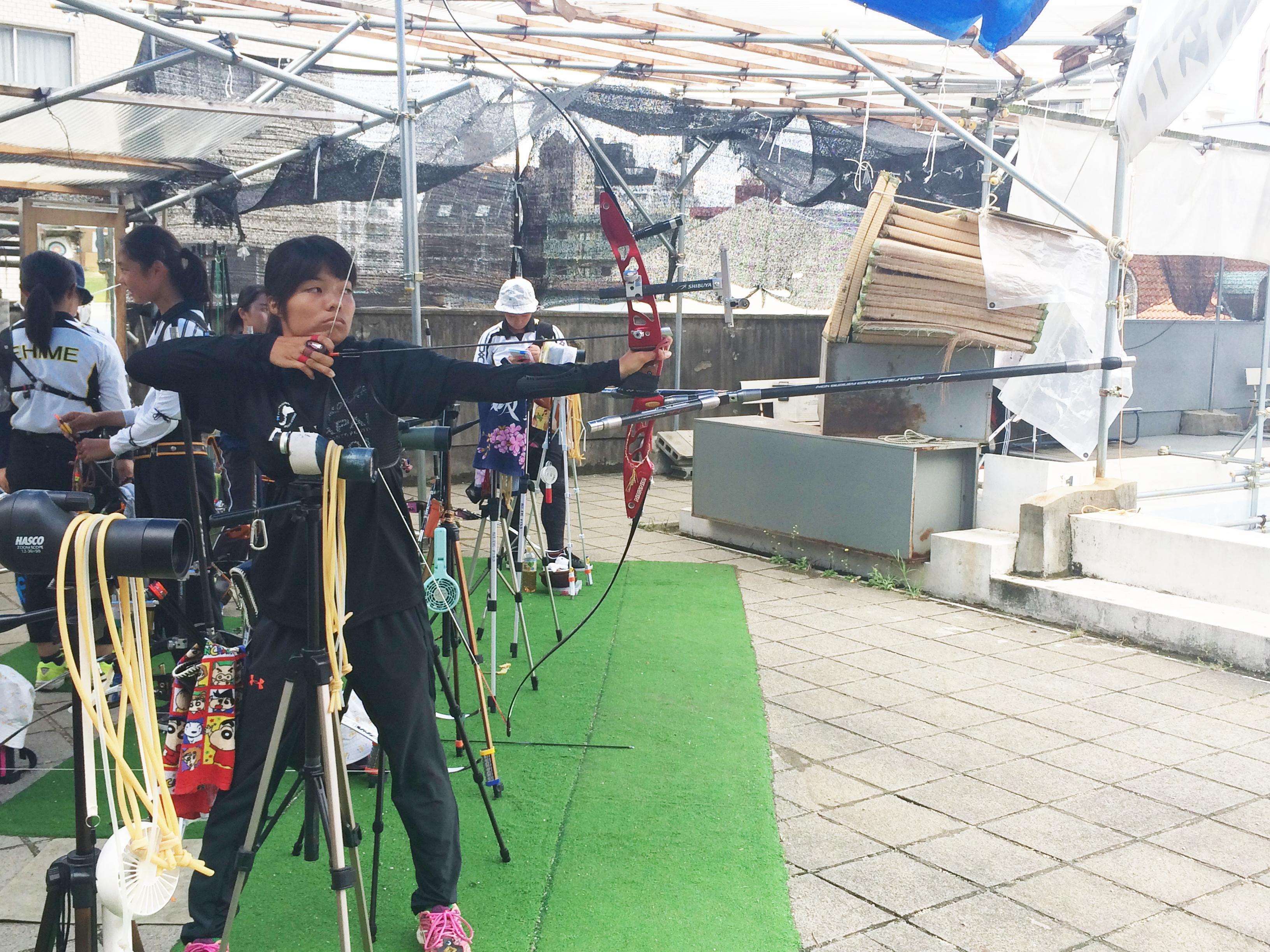 目指すは愛媛からオリンピック!アーチェリーで世界を目指す!松山東雲高等学校キャプテン檜垣亜子さんにインタビュー!