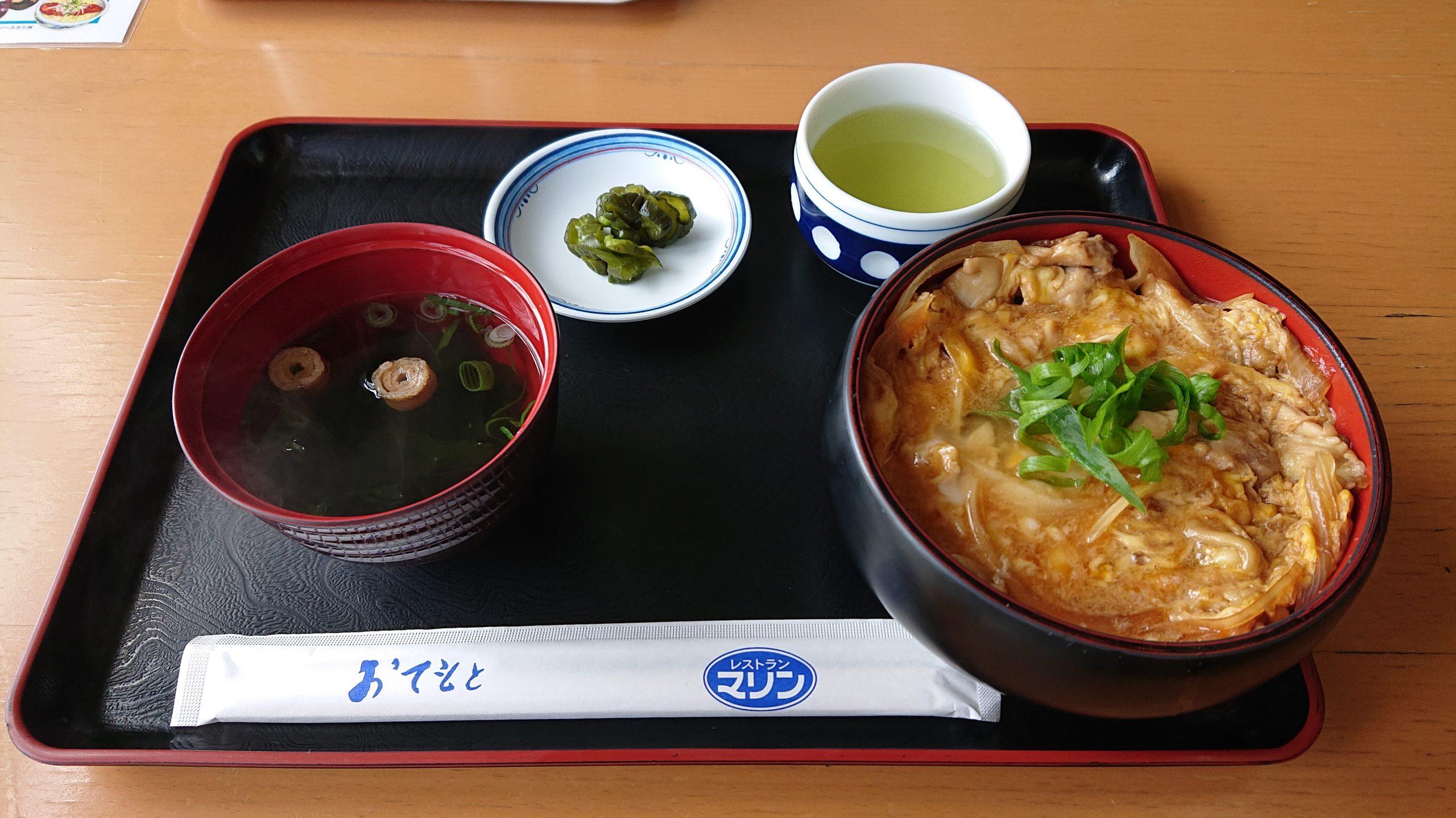 八幡浜港フェリー乗り場にある飲食店「レストラン マリン」で絶品「親子丼」を食べてきたよ!