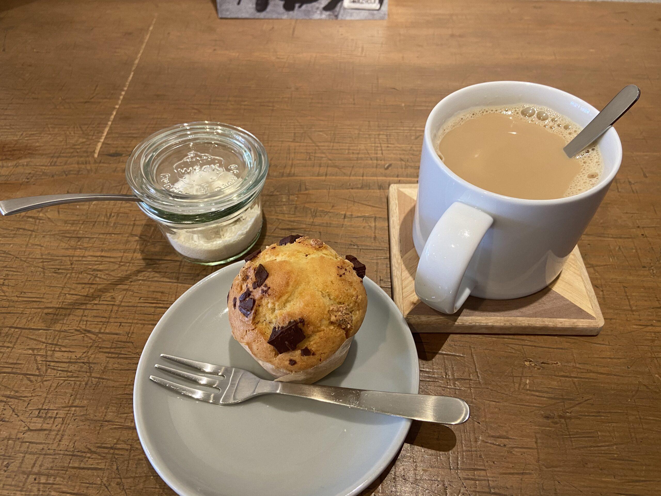 西予市宇和町のコーヒー店「LOKKi COFFEE 」で「ホットミルクコーヒー」&「有機ビターチョコマフィン」を食べてきました!