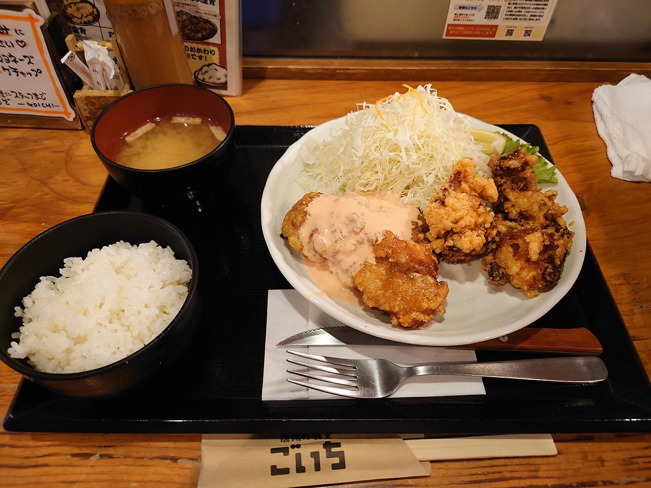 どの唐揚げが好き!? 大街道の「ごいち」で「鶏定食」をガッツリ堪能してきた!