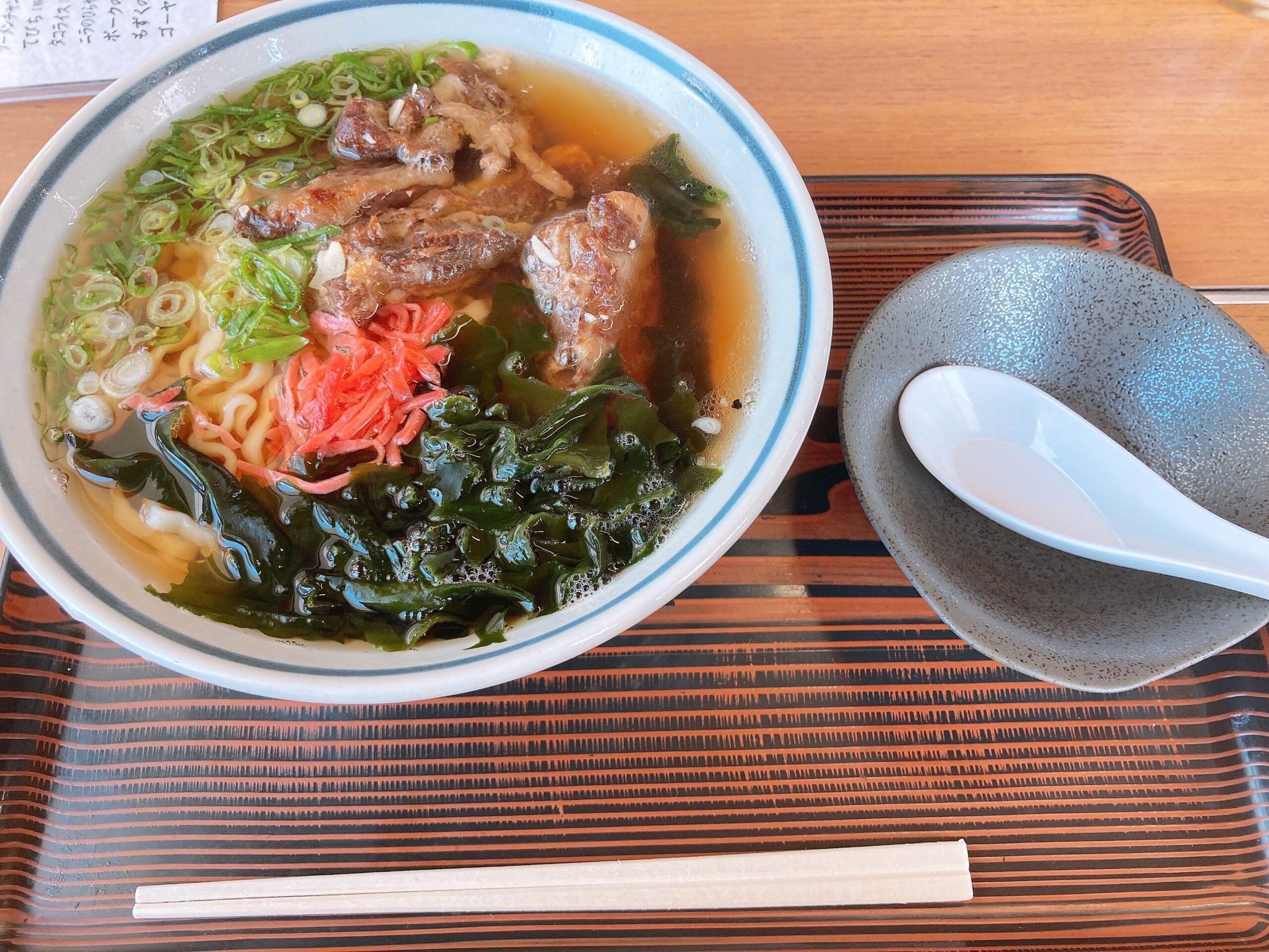 テイクアウトも可!大洲にある沖縄料理店「五志喜めんそーれ」で「ソーキそば」を食べてきたよ!