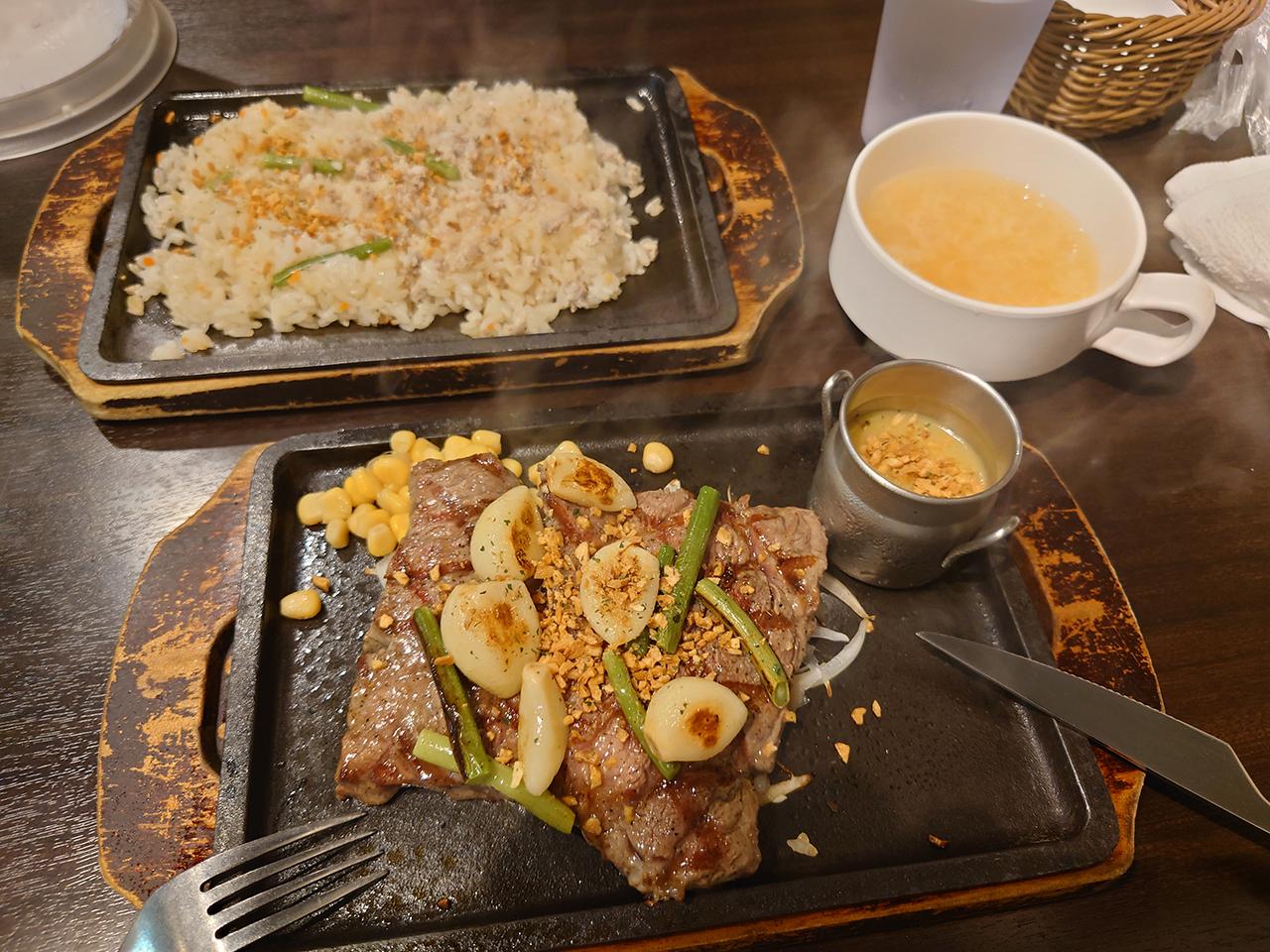 松山市駅地下街の「まつちかステーキ食堂」でまっ昼間っから肉を喰う!